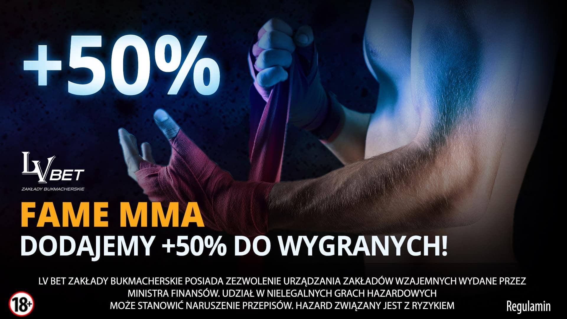 Bonus na FAME MMA 2 LvBET!