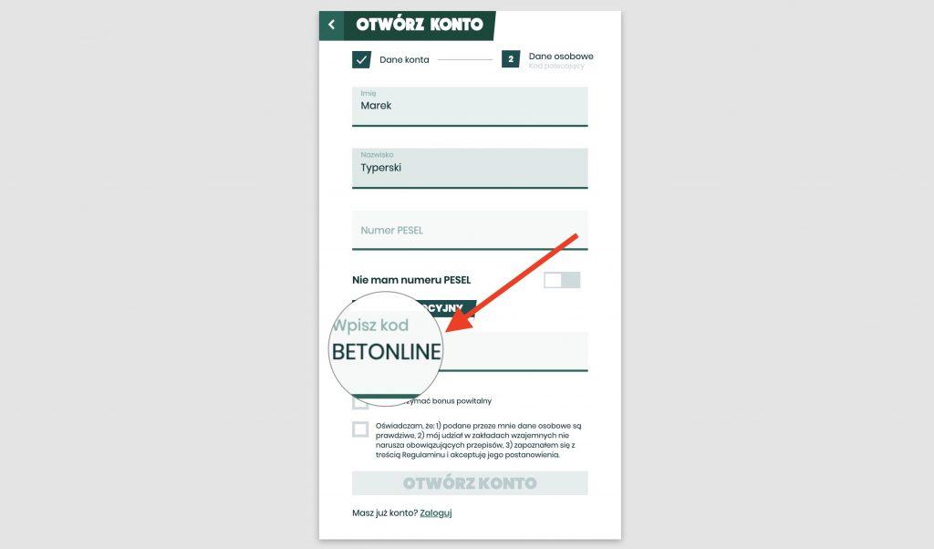 betfan rejestracja z bonusem