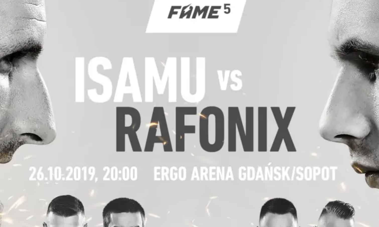 20 PLN bez depozytu na FAME MMA 5. Obstawianie gali online